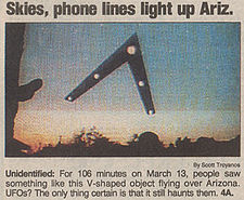 The Phoenix Lights:  Aliens or Air Force? PhoenixLights1997model