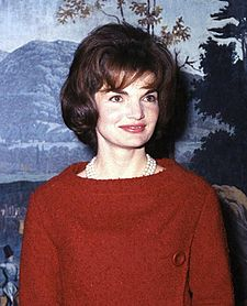 Celebrity Charity: Mrs Kennedy in the Diplomatic Reception Room cropped.jpg